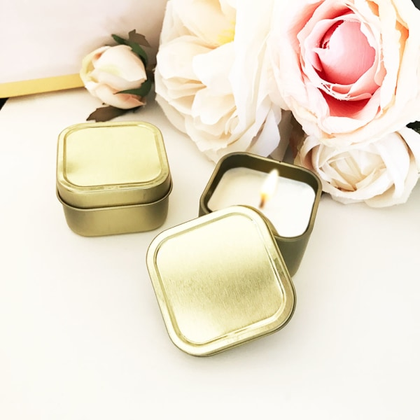EB3211NP-Blank Gold Square Candle Tins