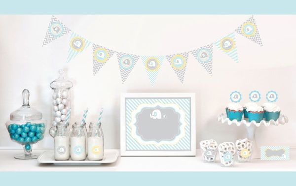 EB4000BEL -Blue Elephant Decorations Starter Kit