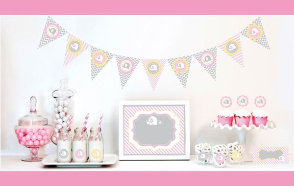 EB4000PEL -Pink Elephant Decorations Starter Kit