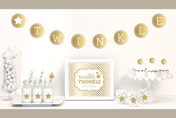 EB4011TW-Gold & Glitter Twinkle Twinkle Party Kit