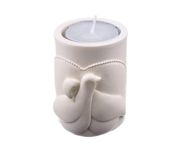 Love And Peace Dove Tea Light Candle Holder Favor