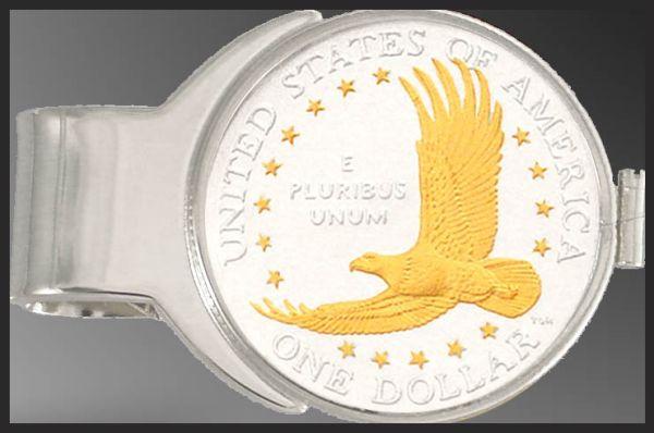 C277-ED2 Eagle Dollar (Sacagawea) Money Clip