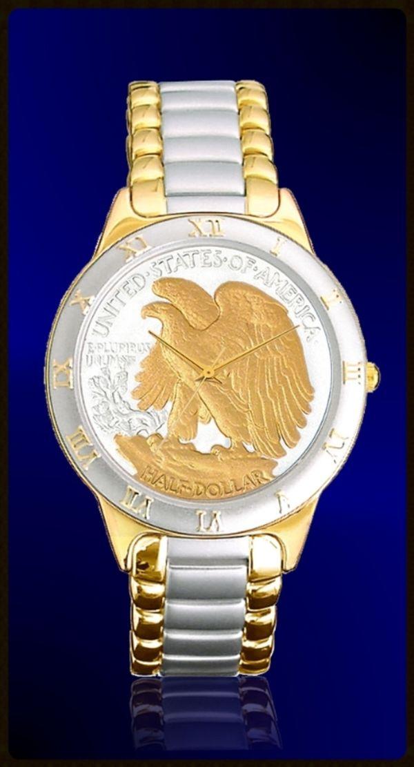 R323-WE2-L2 Walking Eagle Half Dollar Ladies Bracelet Coin Watch