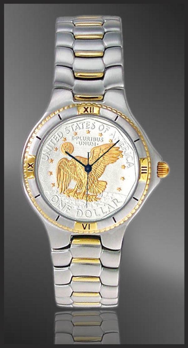 UC125-MAL2-2 Apollo Landing Dollar Mens Bracelet Coin Watch