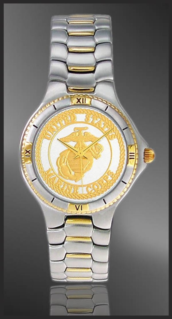 UC125-MMC2-2 Marine Corps Mens Bracelet Medallion Watch