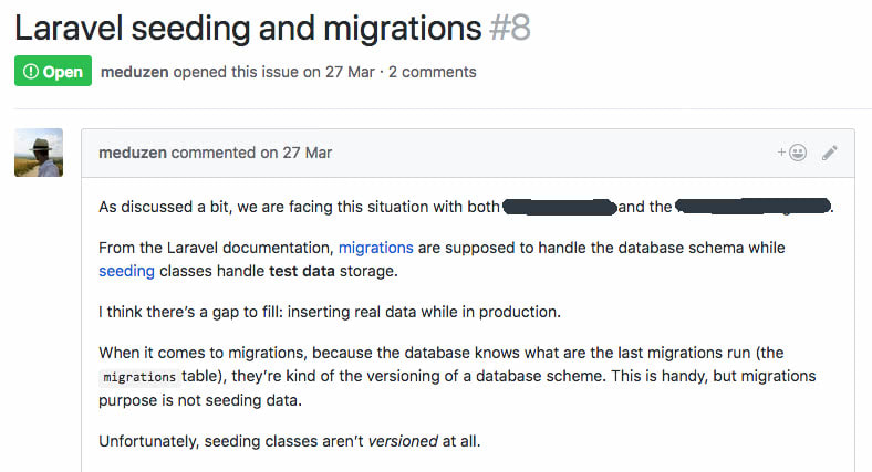 Laravel seeding and migration