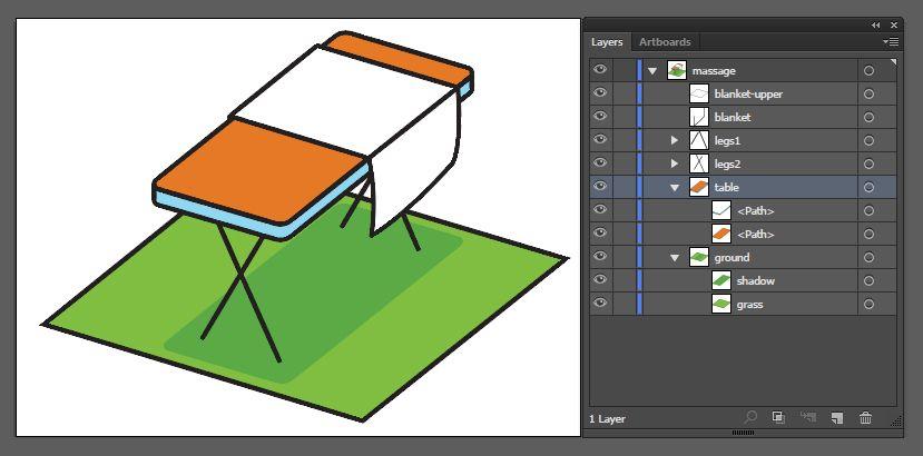SVG layers