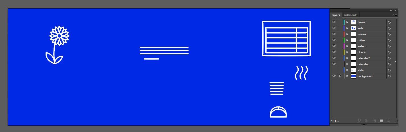 SVG animace vrstev