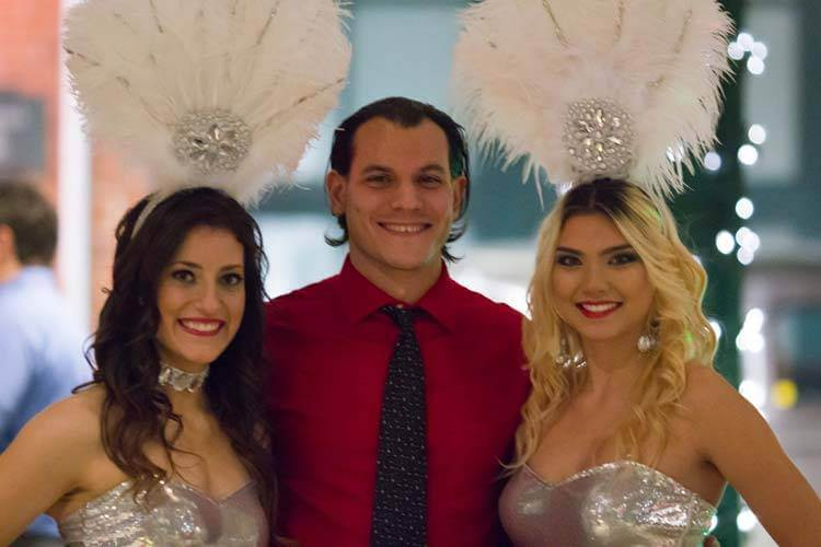 Showgirls Are A Perfect Addition To Any Corporate Casino Party!