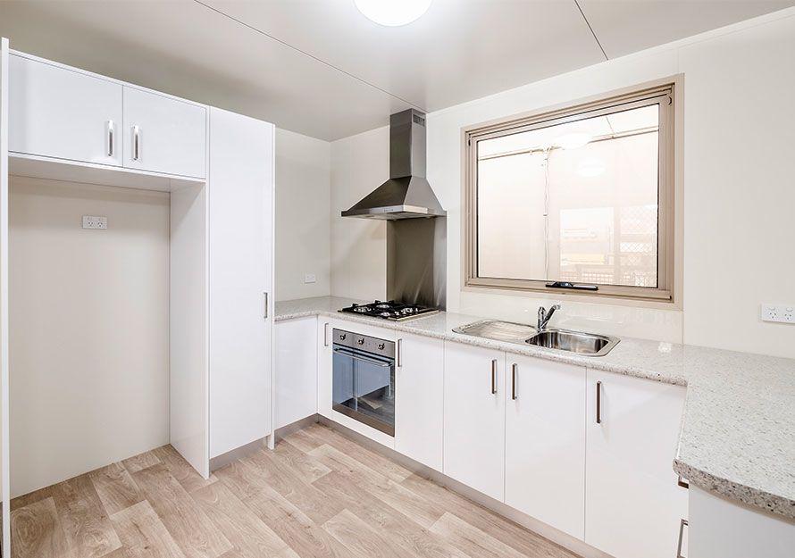 Elpor Granny flat kitchen design with fumehood and oven