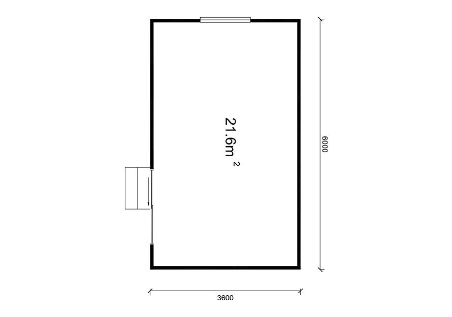 6.0m X 3.6m Sleepout building plans