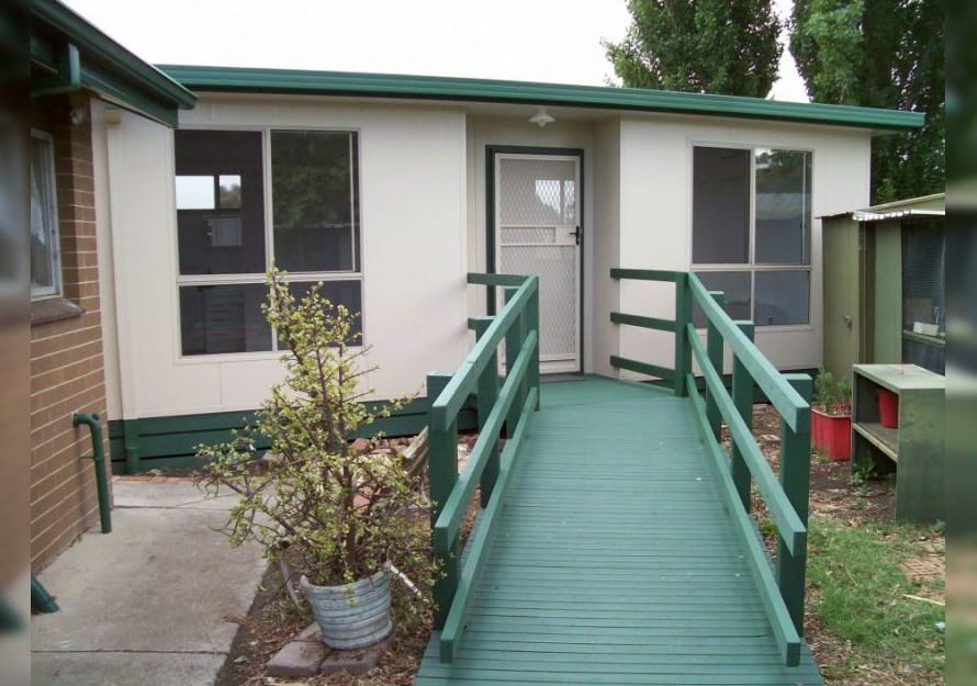 9.0m X 5.0m One Bedroom Granny Flat design with extended ramp