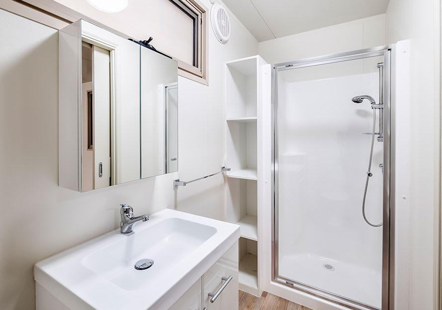 Elpor granny flat shower and vanity