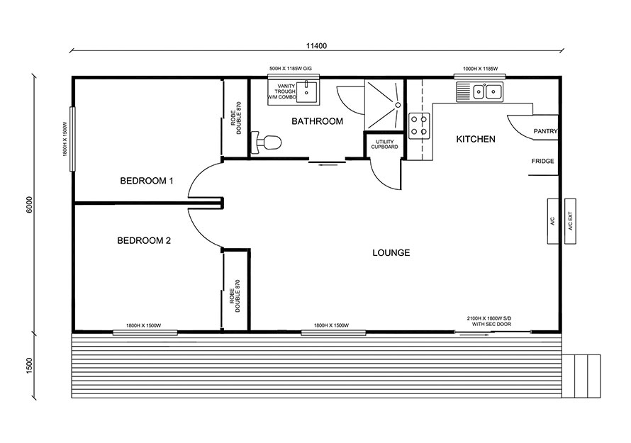 Granny flat design 2 bedroom self contained