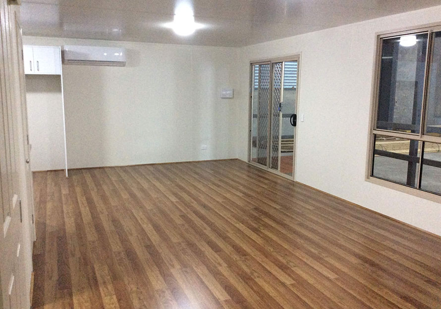 granny flat living area floor space