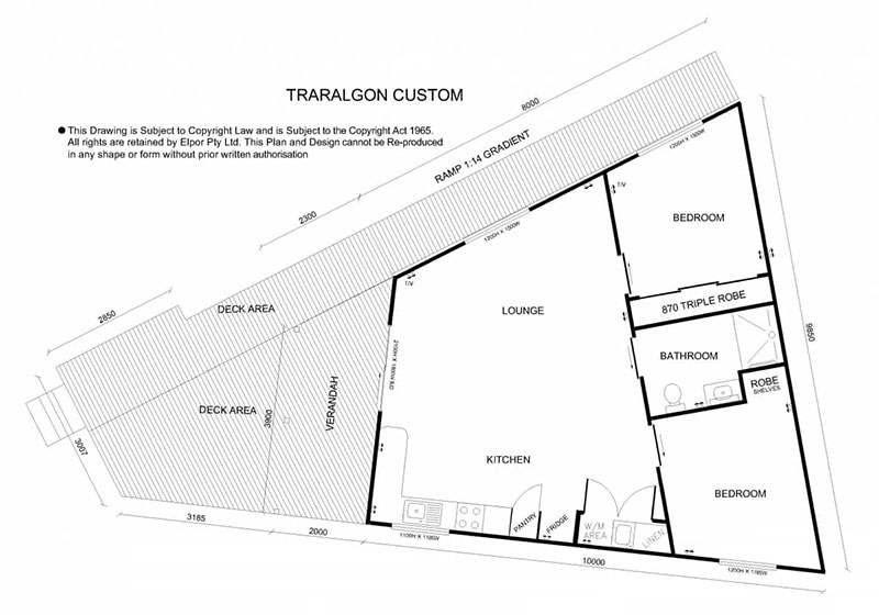 Traralgon custom granny flat map