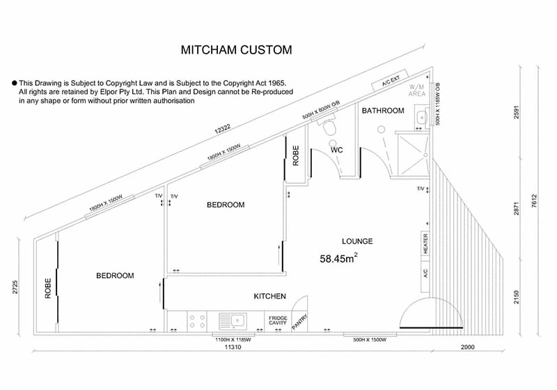 Mitcham custom granny flat map
