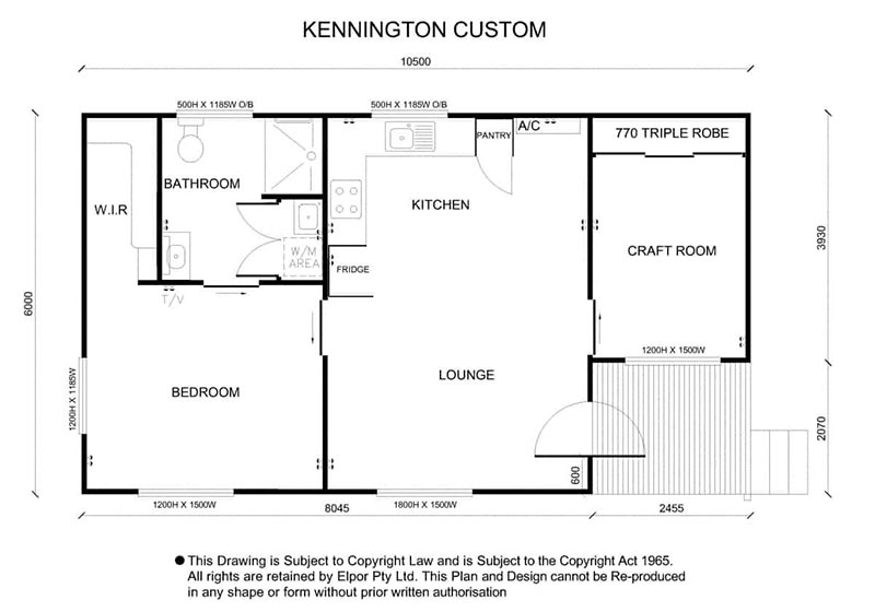 Kennington custom granny flat map