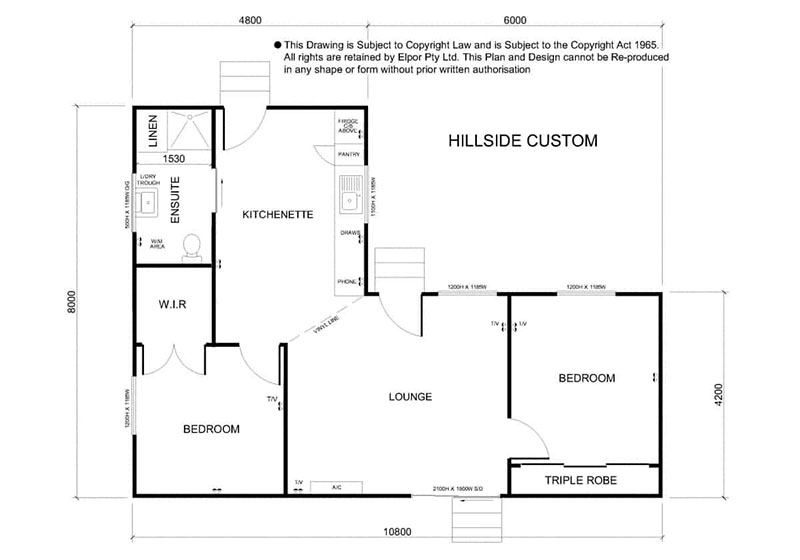 Hillside custom granny flat map