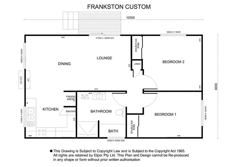 Frankston custom granny flat map