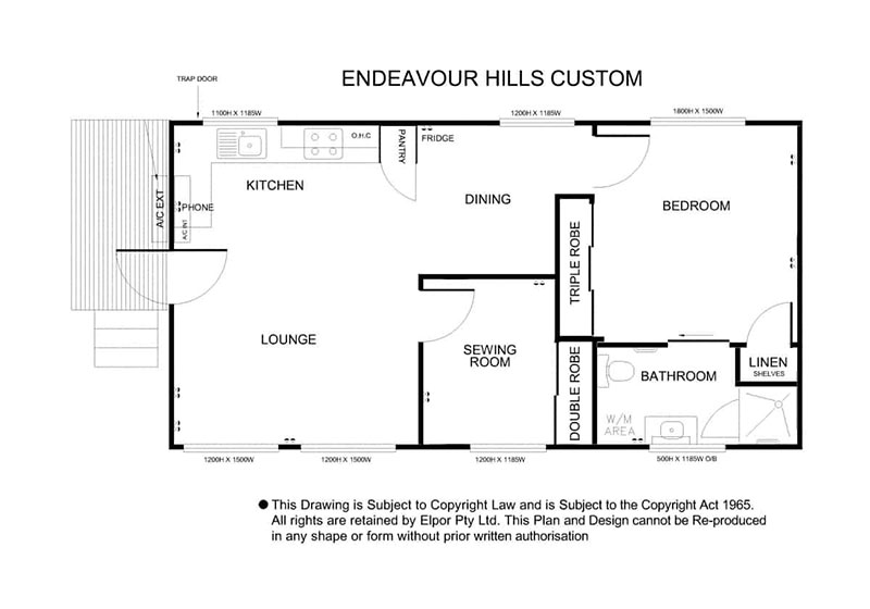Endeavour Hills custom granny flat map