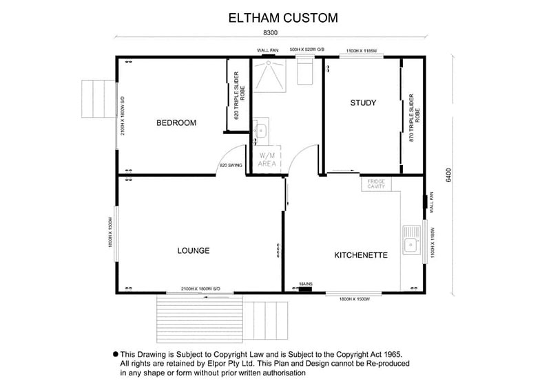 Eltham custom granny flat map