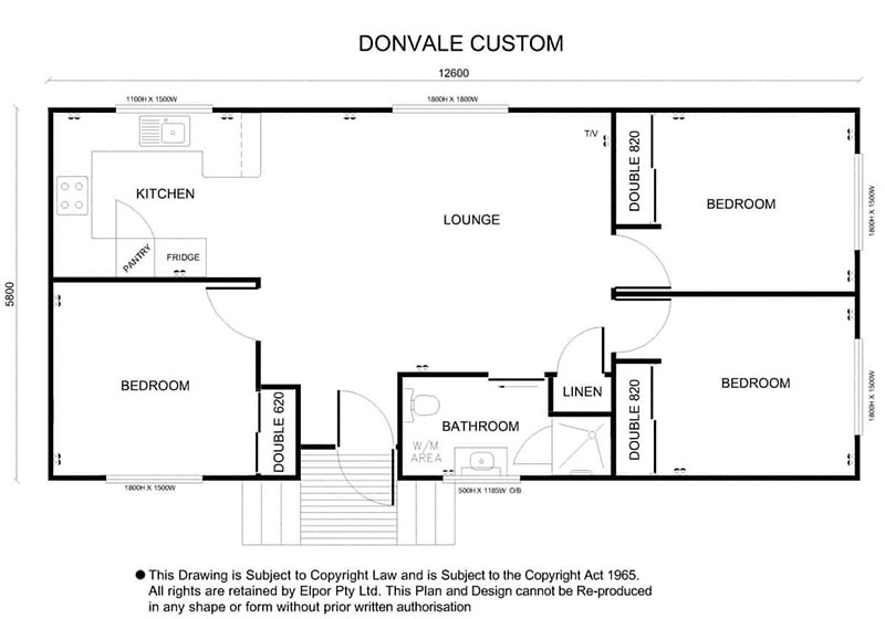 Donvale custom granny flat map