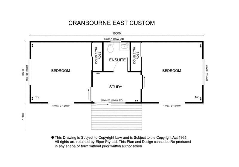 Cranbourne East custom granny flat map