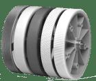 8.0000.3267.0010 Målehjul 0.2M. 10mm aksling. 12mm bred