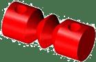 NR.SEP/P. Elektrodeseparator for resistive prober. NR...