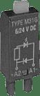 M32G.  slukkediode 24/60VDC. +A2 m/grønn LED