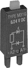 M33G.  slukkediode 110/230VDC. +A2 m/grønn LED