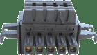 Backplane connector for enkel powring  2 slot
