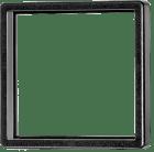 T008-171 Frontramme 55 x 55 mm. Sort