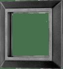 T008-177 Fronramme 72 x 72 mm. sort