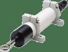 SP100-05/28. Linært Potensiometer. 2K. IP65. m/pluggtilkobling. 100mm slaglengde