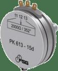 PW613-18d. presisjonspotensiometer. 2kohm. 345gr.. med sentertapping. ø3x14mm aksel