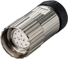K-8.0000.5015.0001 M23x1 plugg 12-pin med utvendige gjenger ccw