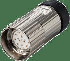 K-8.0000.5015.0002 M23x1 plugg 12-pin med gjenget plugg ccw. sentrering