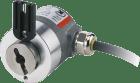 SENDIX Absolut Singleturn. 3671 m/ statorkobling. 8mm hulaksel. 0-10V = 0-180°