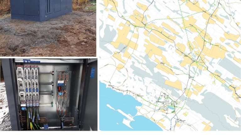 Järvi-Suomen Energian Rantasalmen kohteessa mallikasta tekemistä alusta loppuun