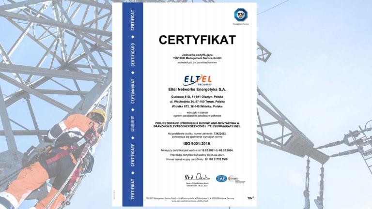 Certyfikat ISO 9001 (PL)