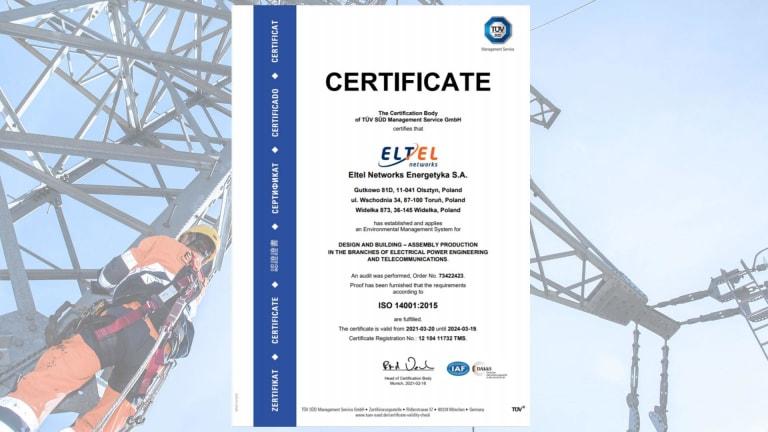 Certificate ISO 14001 (EN)