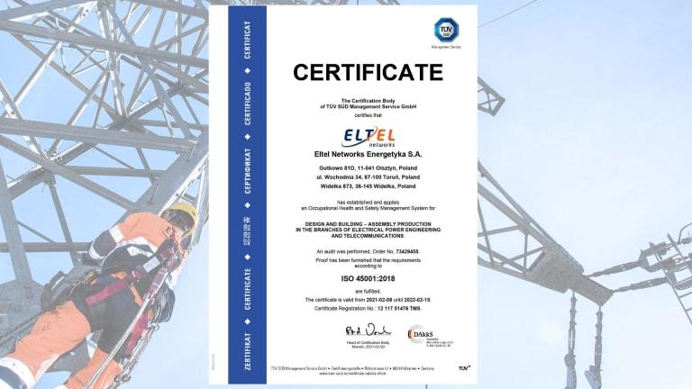 Certificate ISO 45001 (EN)