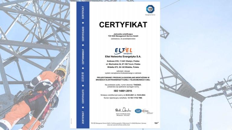 Certyfikat ISO 14001 (PL)