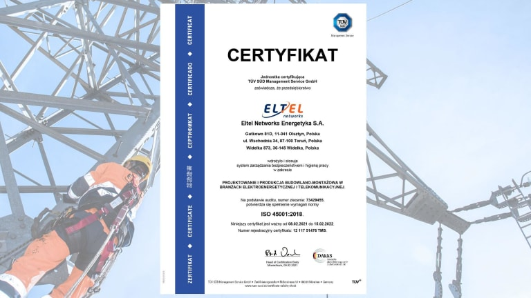 Certyfikat ISO 45001 (PL)