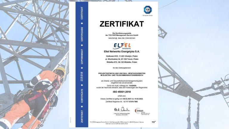 Zertifikat ISO 45001 (DE)