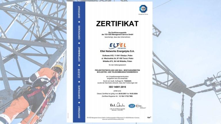 Zertifikat ISO 14001 (DE)