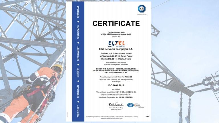 Certificate ISO 9001 (EN)