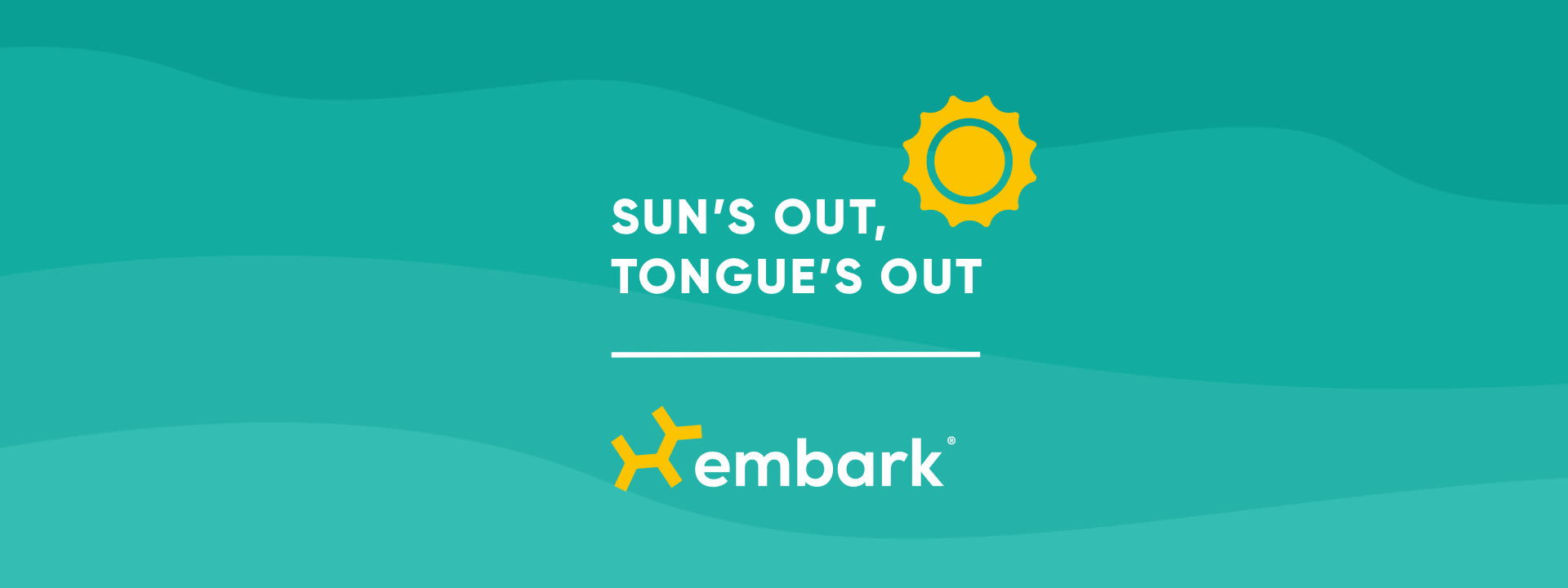 Sun's Out Tongue's Out Embark Logo